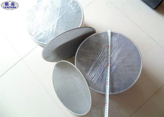 Square Stainless Steel Wire Cloth Discs Double Sintered For Acid / Alkaline
