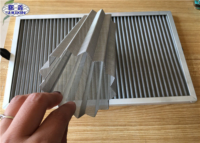 Wrinkled Dust Filter Mesh , Stainless Steel Dust Collector Air Filter