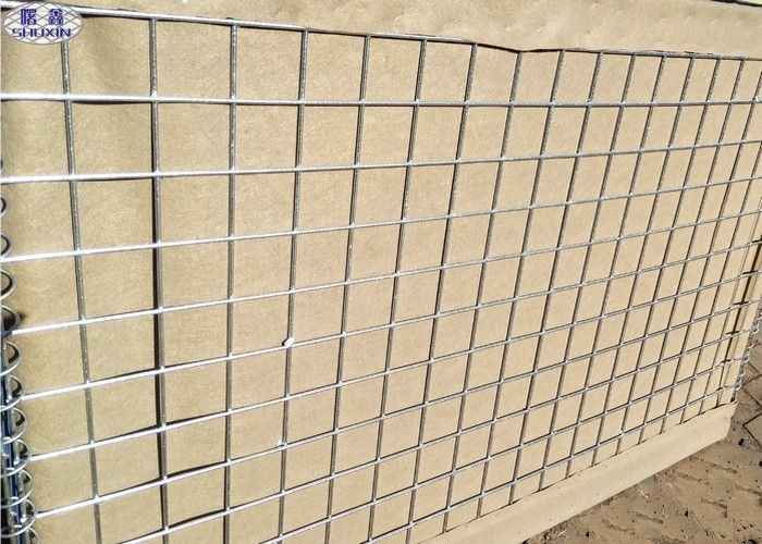 Heavy Duty Sand Filled Barriers Hot Dipped Galvanized Welded Wire Mesh Box