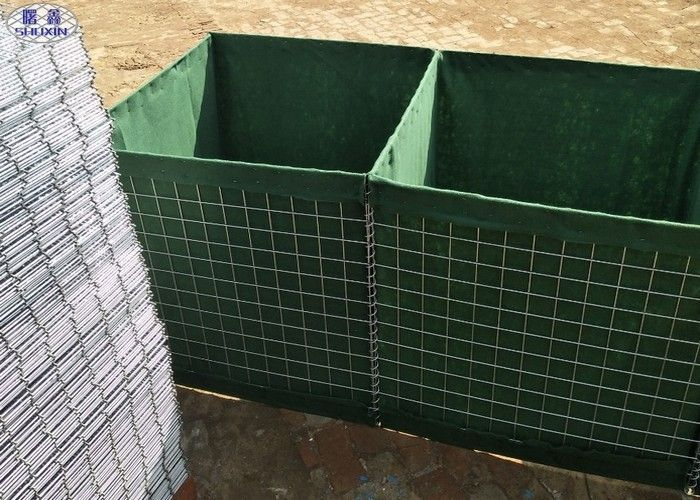 Durable Defensive Bastion Military Hesco Barriers For Sand Wall
